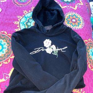 Diamond cropped hoodie